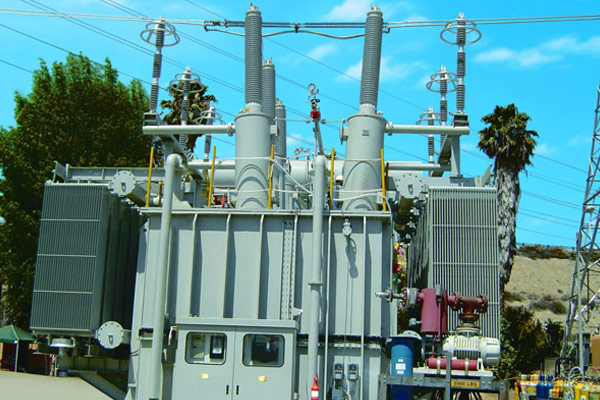 900MVA three-phase auto transformer export to USA for connecting South California Grid of American and Los Angeles Water and Electricity Department Grid on 2004